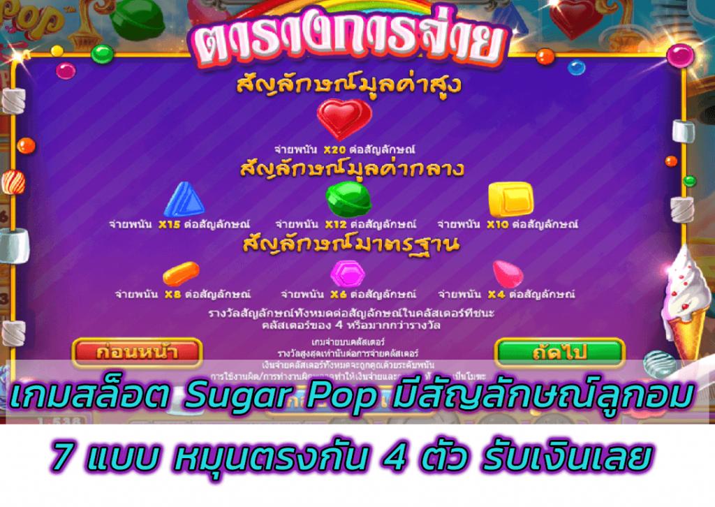 เกมสล็อต Sugar Pop ได้เงิน